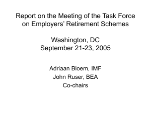 Report on the Meeting of the Task Force Washington, DC