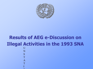 Results of AEG e-Discussion on Illegal Activities in the 1993 SNA U N