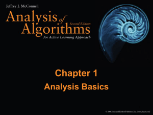 Chapter 1 Analysis Basics 1