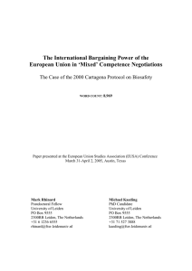 The International Bargaining Power of the