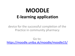 MOODLE E-learning application device for the successful completion of the
