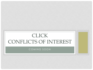 CLICK CONFLICTS OF INTEREST
