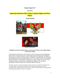 Indonesian Elections 2014: Jokowi, Human Rights and West Papua