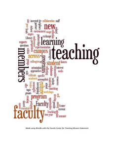 Made using Wordle with the Faculty Center for Teaching Mission...