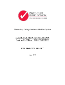 SURVEY OF PENNYLVANIANS ON GAY and LESBIAN RIGHTS ISSUES