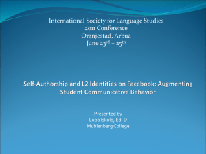 International Society for Language Studies 2011 Conference Oranjestad, Arbua June 23