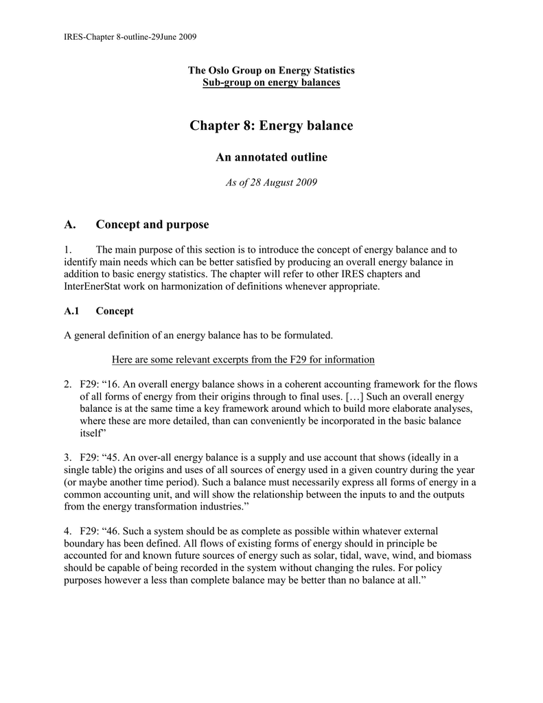 chapter 8: energy balance an annotated outline a.