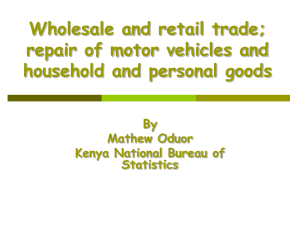 Wholesale and retail trade; repair of motor vehicles and By