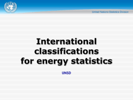 International classifications for energy statistics UNSD