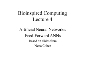 Bioinspired Computing Lecture 4 Artificial Neural Networks: Feed-Forward ANNs