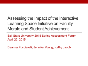 Assessing the Impact of the Interactive Learning Space Initiative on Faculty