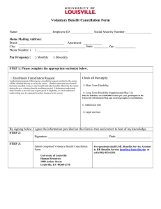 Voluntary Benefit Cancellation Form