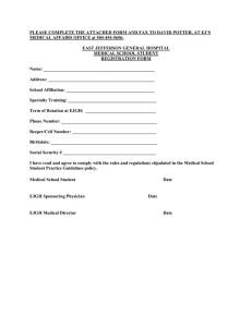 PLEASE COMPLETE THE ATTACHED FORM AND FAX TO DAVID POTTER,... MEDICAL AFFAIRS OFFICE at 504-454-5656:
