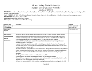Grand Valley State University NOTES:  General Education Committee Minutes of 4/1/2013