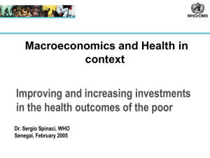 Improving and increasing investments in the health outcomes of the poor context