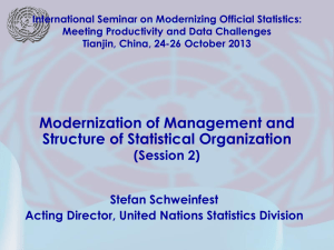 International Seminar on Modernizing Official Statistics: Meeting Productivity and Data Challenges