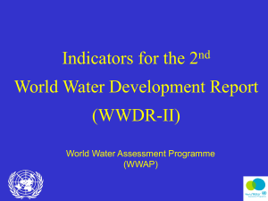 Indicators for the 2 World Water Development Report (WWDR-II) nd