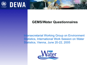GEMS/Water Questionnaires