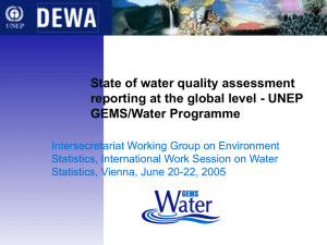 State of water quality assessment GEMS/Water Programme
