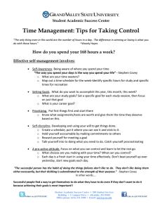Time Management: Tips for Taking Control  Student Academic Success Center