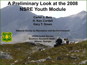 A Preliminary Look at the 2008 NSRE Youth Module Carter J. Betz