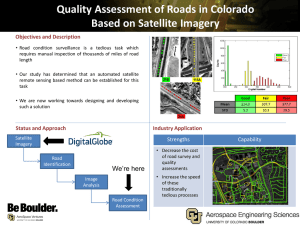 Quality Assessment of Roads in Colorado Based on Satellite Imagery