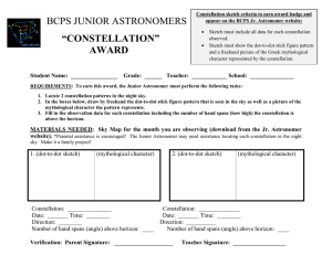 "BCPS JUNIOR ASTRONOMERS ""CONSTELLATION"""
