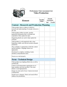 Video Production Element Content - Research and Production Planning
