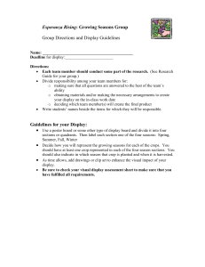 Esperanza Rising  Group Directions and Display Guidelines