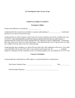 RRC Young Life Camp Consent Health Form