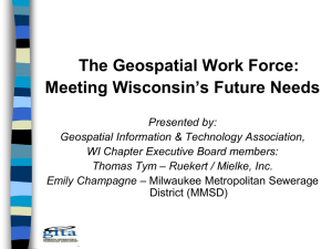The Geospatial Work Force: Meeting Wisconsin's Future Needs