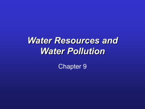 Water Resources and Water Pollution Chapter 9
