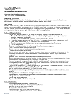 FACILITIES SERVICES Job Description
