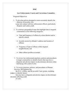 DMC  Law Enforcement, Courts and Corrections Committee Proposed Objectives: