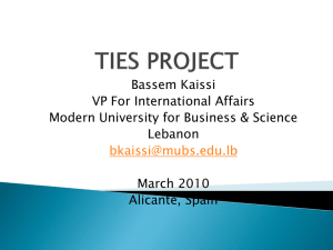 Bassem Kaissi VP For International Affairs Modern University for Business & Science Lebanon