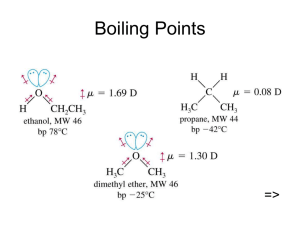 Boiling Points =>