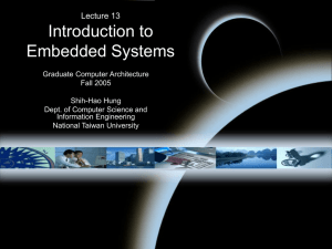 Introduction to Embedded Systems Lecture 13