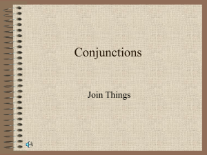 Conjunctions Join Things