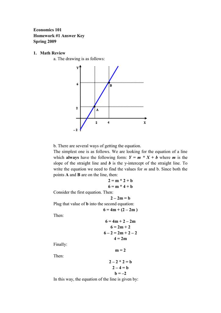 econ 101 homework answers