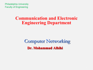 Computer Networking Communication and Electronic Engineering Department Dr. Mohammad Alhihi