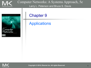 Chapter 9 Applications Computer Networks: A Systems Approach, 5e