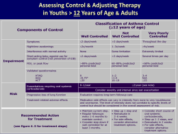 Assessing Control Adjusting Therapy in Youths > 12 Years of Age Adults