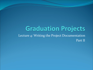 Lecture 4: Writing the Project Documentation Part II