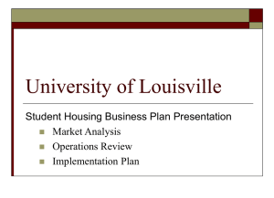 University of Louisville Student Housing Business Plan Presentation Market Analysis Operations Review