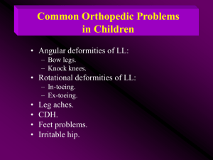 Common Orthopedic Problems in Children