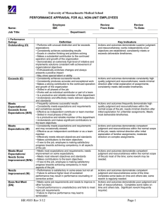University of Massachusetts Medical School PERFORMANCE APPRAISAL FOR ALL NON-UNIT EMPLOYEES