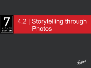 4.2 | Storytelling through Photos