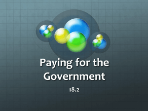 Paying for the Government 18.2