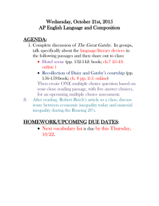 Wednesday, October 21st, 2015 AP English Language and Composition  AGENDA: