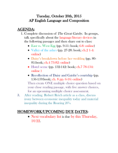 Tuesday, October 20th, 2015 AP English Language and Composition  AGENDA:
